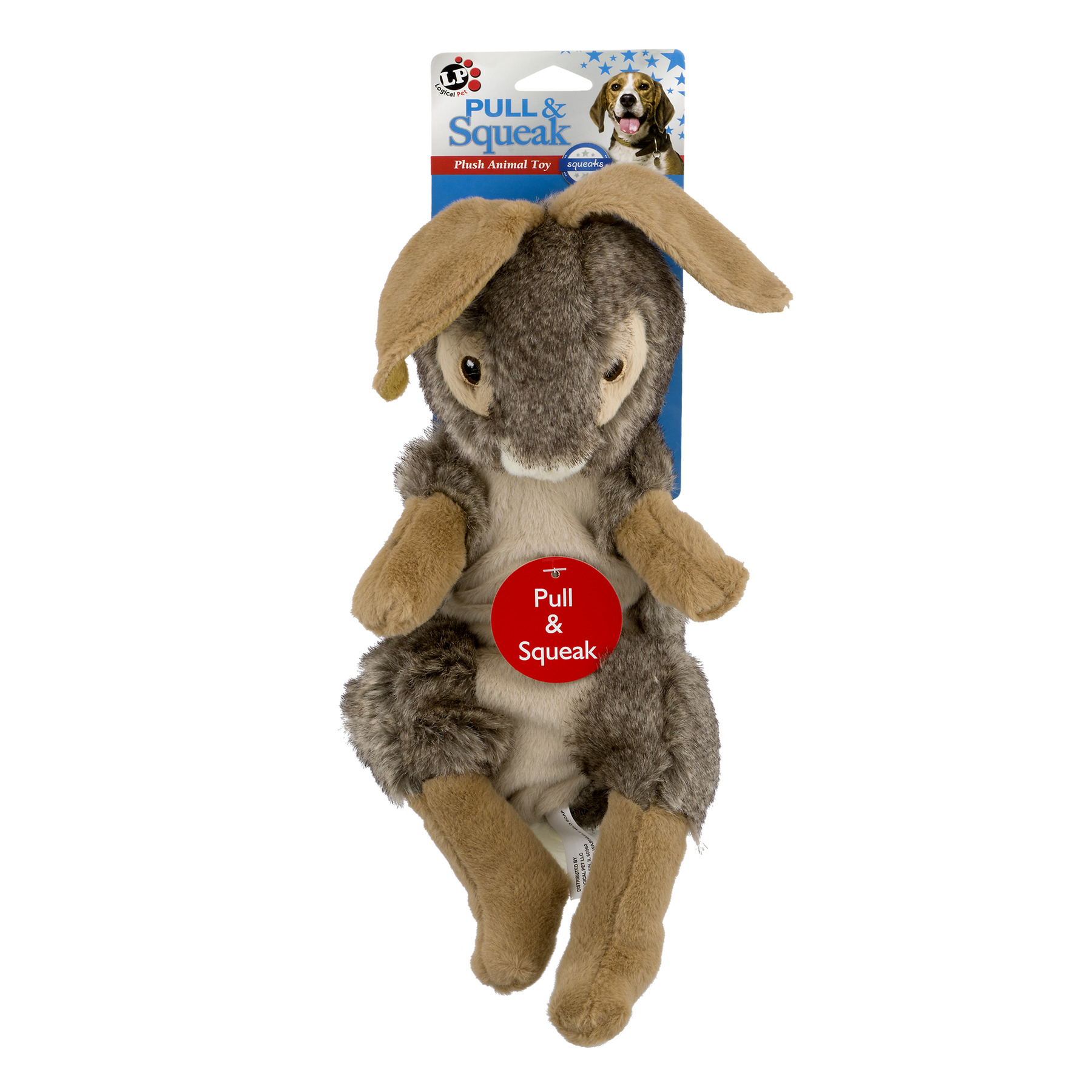 Logical Pet Pull & Squeak Rabbit Dog Toy, 1.0 CT by Pet Factory, Inc.
