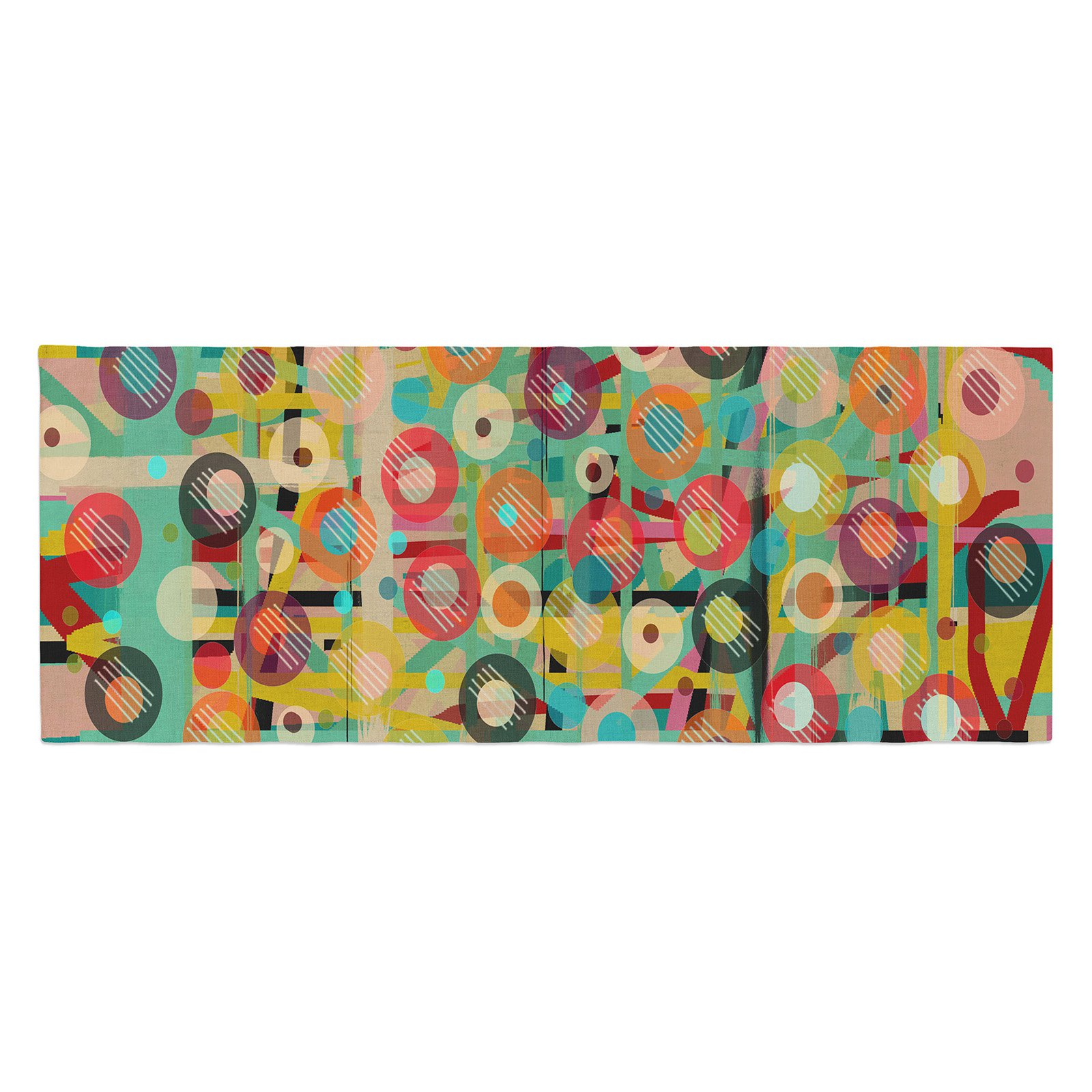 Bri Buckley Gift Wrapped Crazy Bed Runner by Kess InHouse