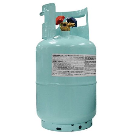 Mastercool 67010 Blue 1/2 in. ACME 30 lb. D.O.T-Approved Recovery Cylinder with Float -
