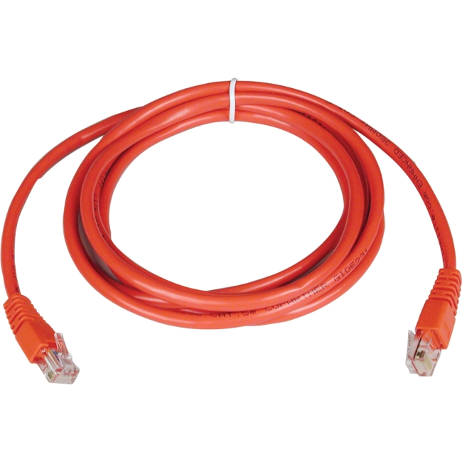 Tripp Lite 7ft Cat5e 350MHz Molded Patch Cable (RJ45 M/M) - Red