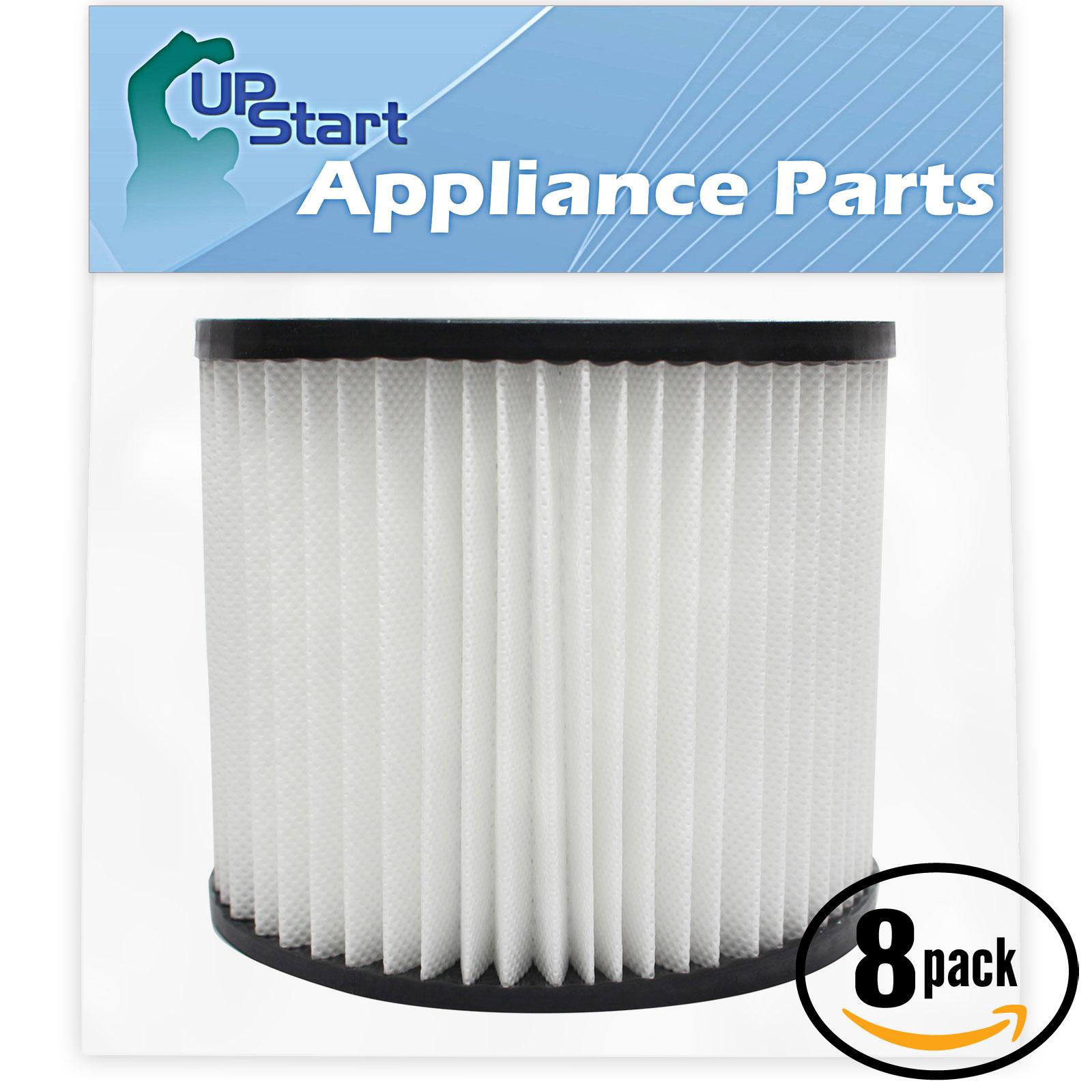 UpStart 8-Pack Replacement Shop-Vac 90398 Vacuum Cartridg...