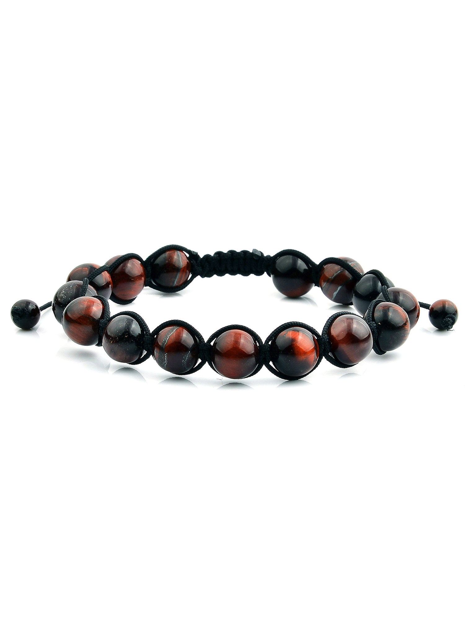 Men's Turquoise Polished Bead Adjustable Bracelet (10mm)