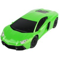 1/16 Scale Super Car Exotic Green RC Remote Control Lamborghini with Blacked Out Accents and Wheels