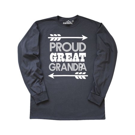 2c02b7ba Inktastic - Great Grandpa Gift Idea Grandparents Long Sleeve T-Shirt ...