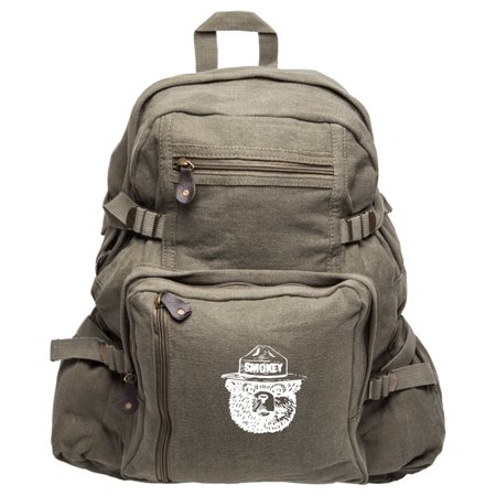 Smokey Bear Heavyweight Canvas Backpack School Book Bag](Canvas Book Bags)