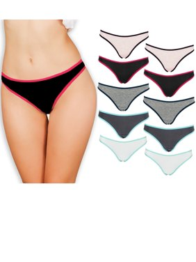 b6d5463922f8 Product Image Emprella Womens Underwear Thong Panties - 10 Pack Colors and  Patterns May Vary