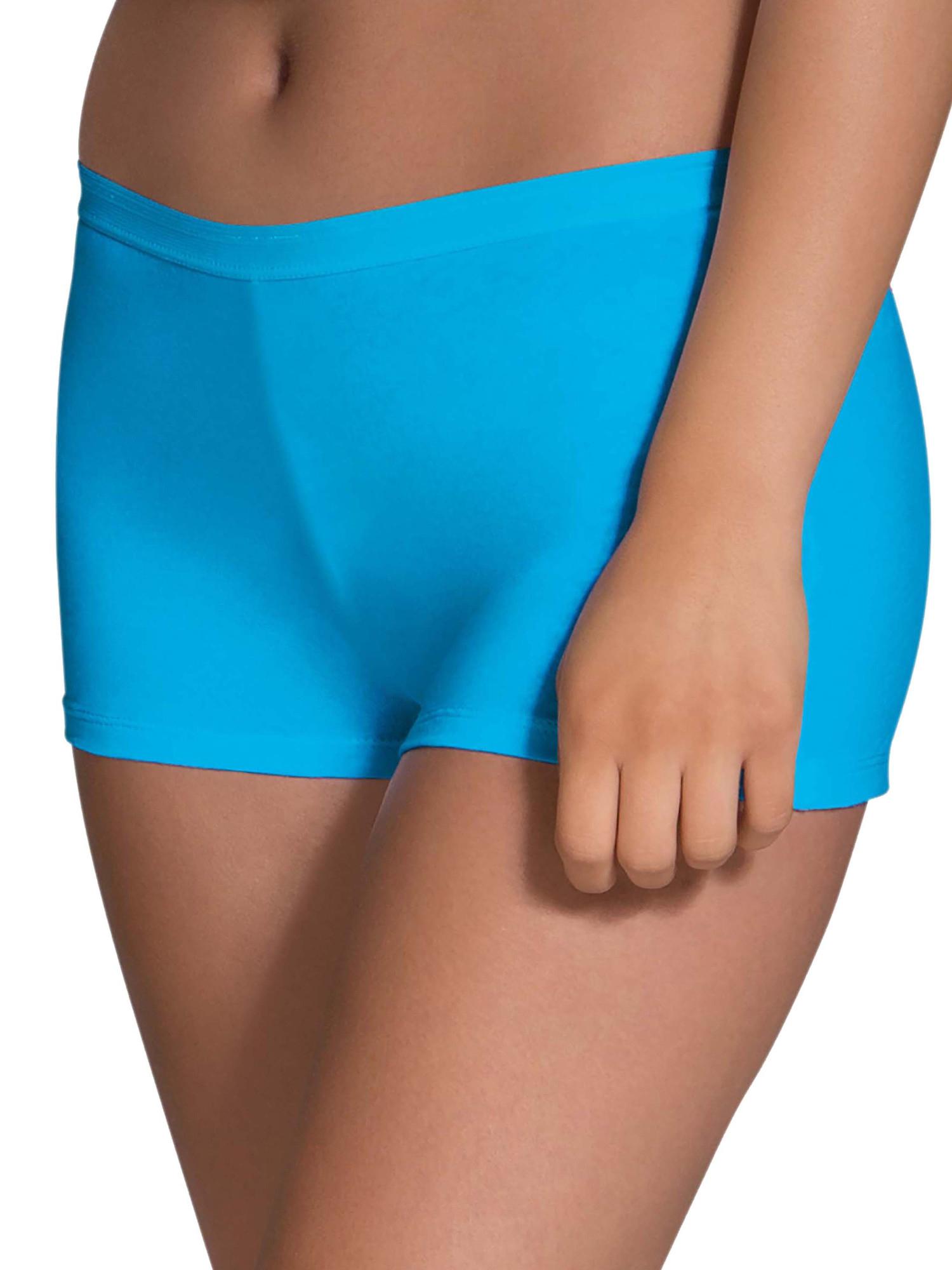 Women's Assorted Cotton Shortie Boyshort Panties - 6 Pack