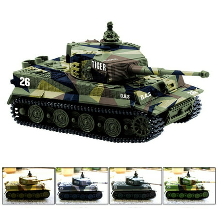 1:72 Radio Remote Control Mini RC German Tiger I Panzer Tank with Sound, Rotating Turret (Vary (Panzer Tank)