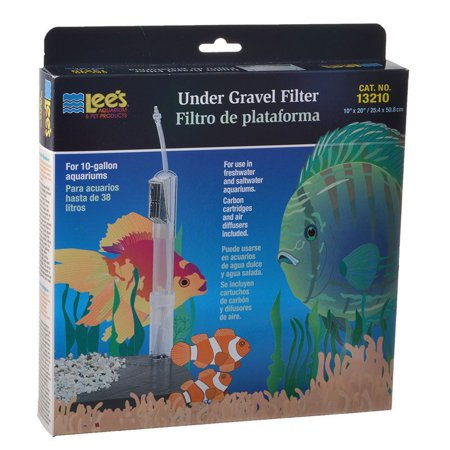 Lees Undergravel Filter - Lees Original Undergravel Filter 20 Long x 10 Wide (10 Gallons) - Pack of 2