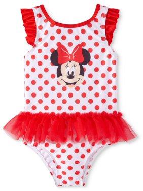 Minnie Mouse Baby Girl One-Piece Tutu Swimsuit