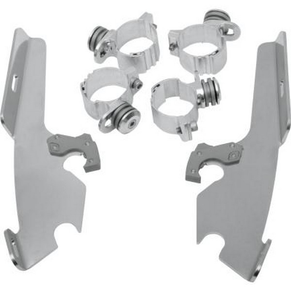 Memphis Shades Fats/Slim/FairingTrigger-Lock Mounting Kit Polished Fits 05-09 Suzuki VL800T Boulevard C50T