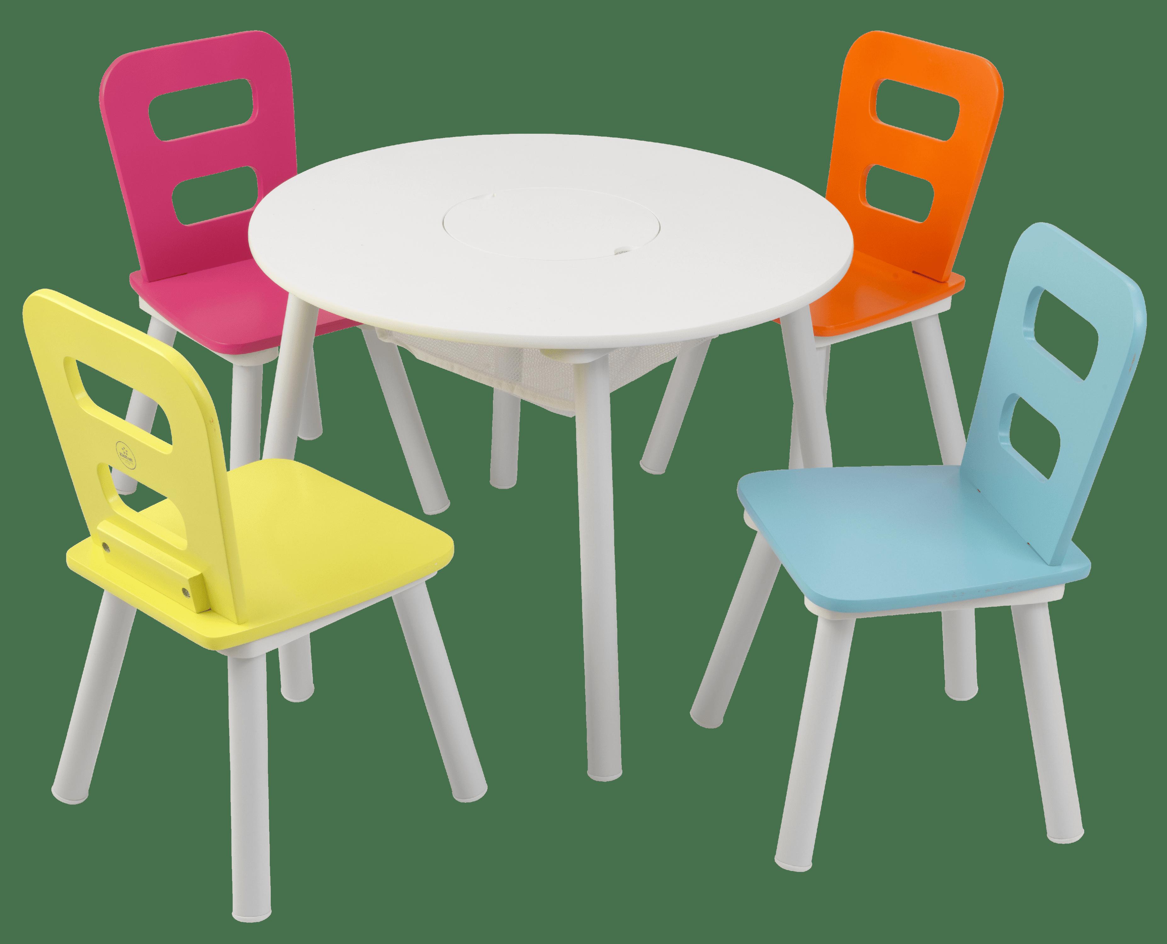 KidKraft Round Storage Table & 4 Chair Set Highlighter by KidKraft