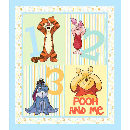 Springs Creative Disney Pooh Nursery Pooh Peekaboo Wallhanging Fabric by the Yard