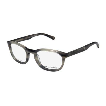 New Banana Republic Baldwin Mens/Womens Designer Full-Rim Gray / Horn / Fade Durable Popular Shape Frame Demo Lenses 48-21-140 Spring Hinges Eyeglasses/Eye (Most Popular Eyeglasses For Men)