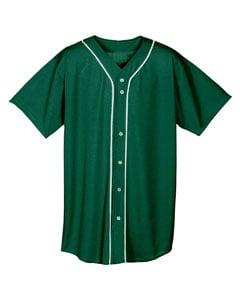 A4 Drop Ship Youth Short Sleeve Full Button Baseball Jersey