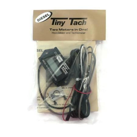Diesel Engine Tiny Tach HOUR METER TACHOMETER w/ 1/4