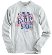 Guided Faith Sight Christian Shirt Christ Religious Gift Hope Long Sleeve Tee