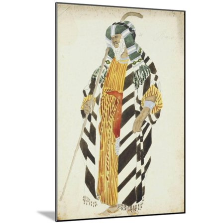 Costume Design for a Dancer from 'Suite Arabe' Wood Mounted Print Wall Art By Leon (Print Shop Design Suite)