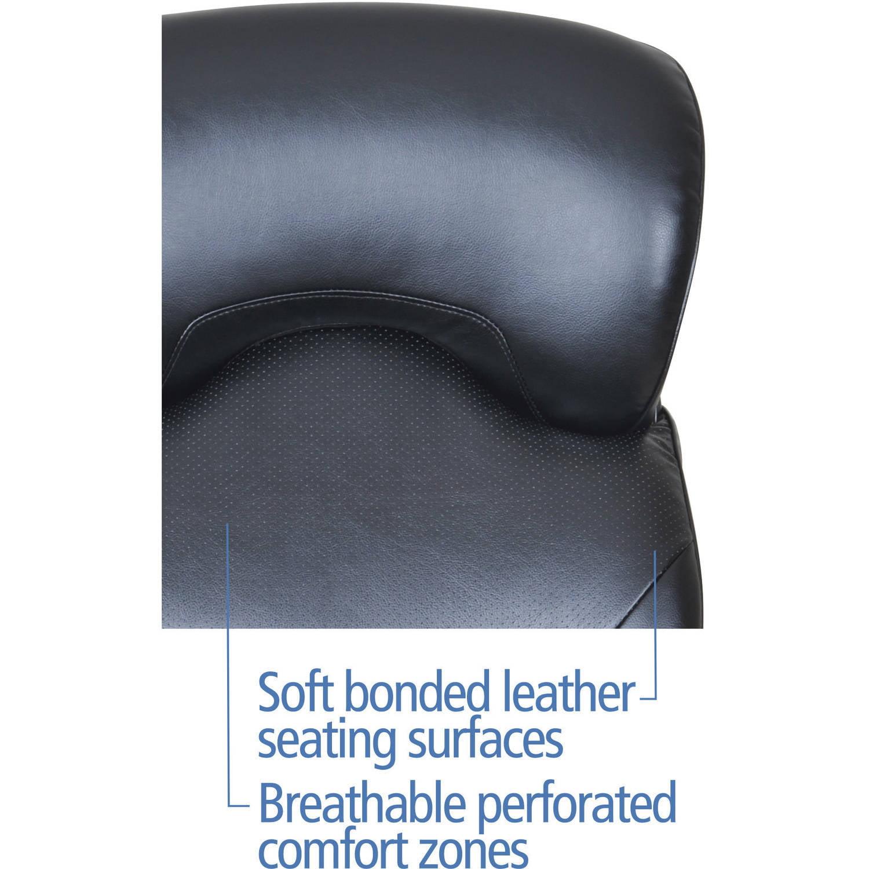 Serta Wellnessdesign Executive Leather Office Chair, Black