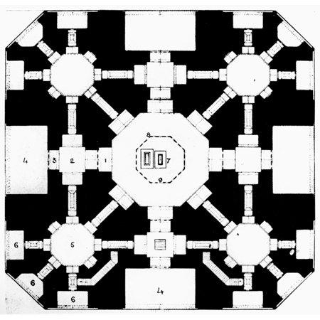 India Taj Mahal Plan Nfloor Plan Of The Taj Mahal The Marble Mauseleum At Agra India Built (1631-1645) By The Mogul Emperor Shah Jahan In Memory Of His Favorite Wife Mumtaz Mahal Poster Print by (Images Of Shah Jahan And Mumtaz Mahal)