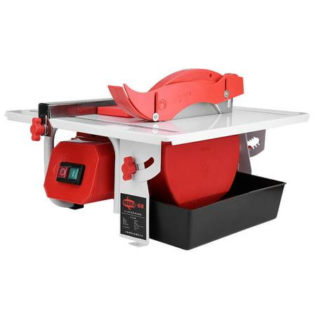 HERCHR Porcelain Cutting Machine, Electric Tile Cutter, Heavy Duty 600W Electric Wet Tile Cutter Cutting Machine with Cutting Blade 110V US Standard