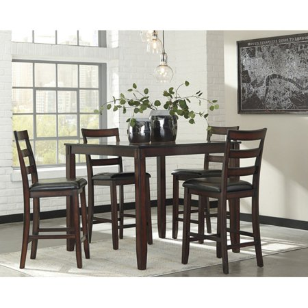 - Signature Design by Ashley Coviar 5 Piece Counter Height Dining Table Set