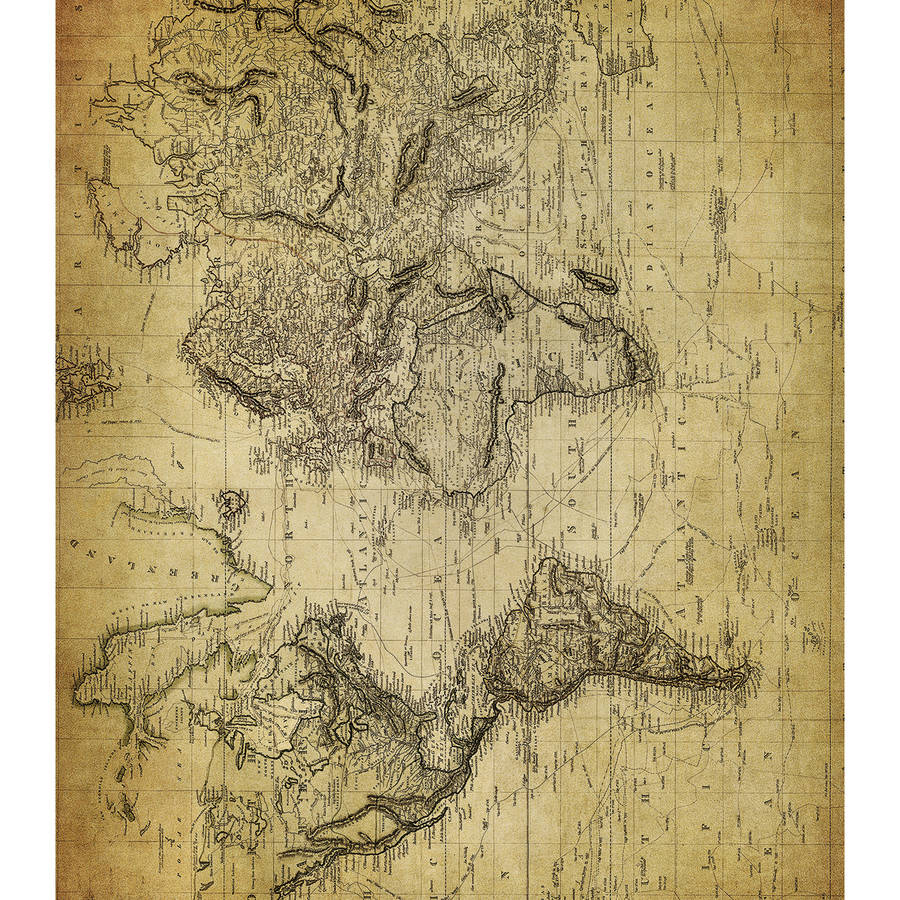 "Craft Consortium Decoupage Papers, 13.75"" x 15.75"", 3pk, World Map 2"