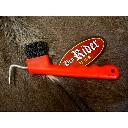 Horse Care Farrier Tool Red Hoof Pick Equine Grooming - Equine Grooming Supplies