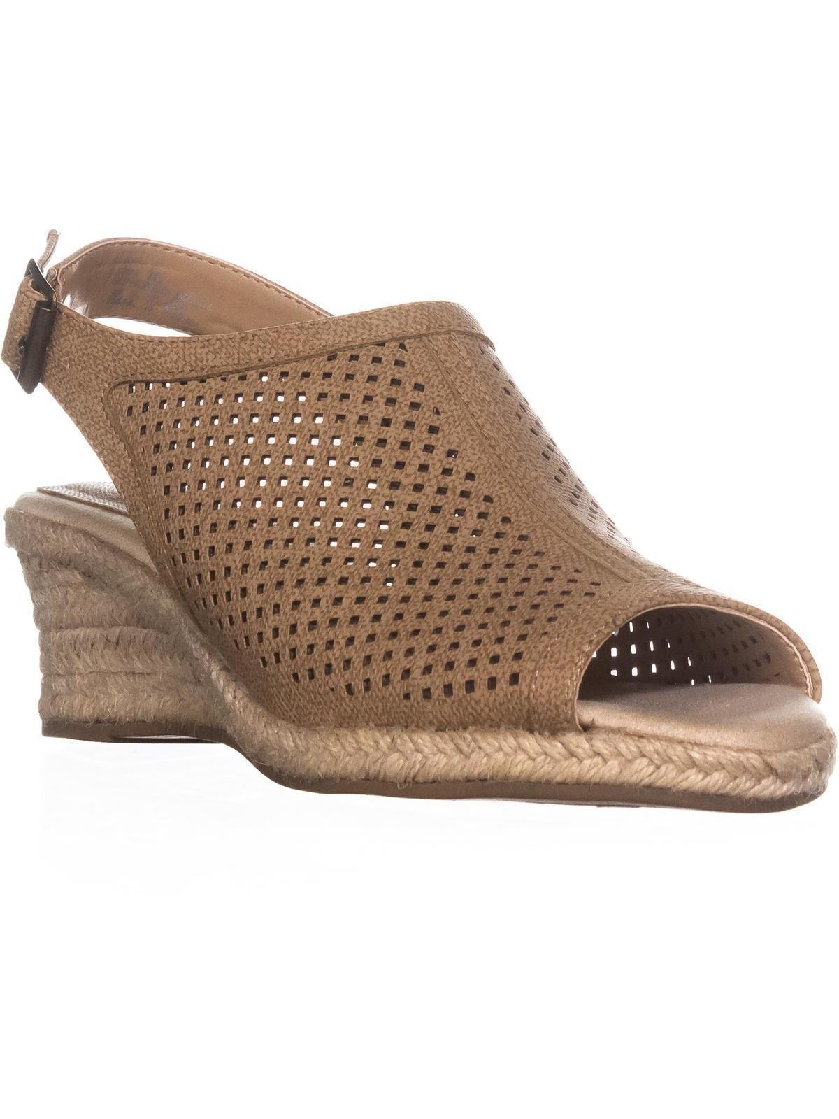 womens easy street stacy espadrilles sandals, tan