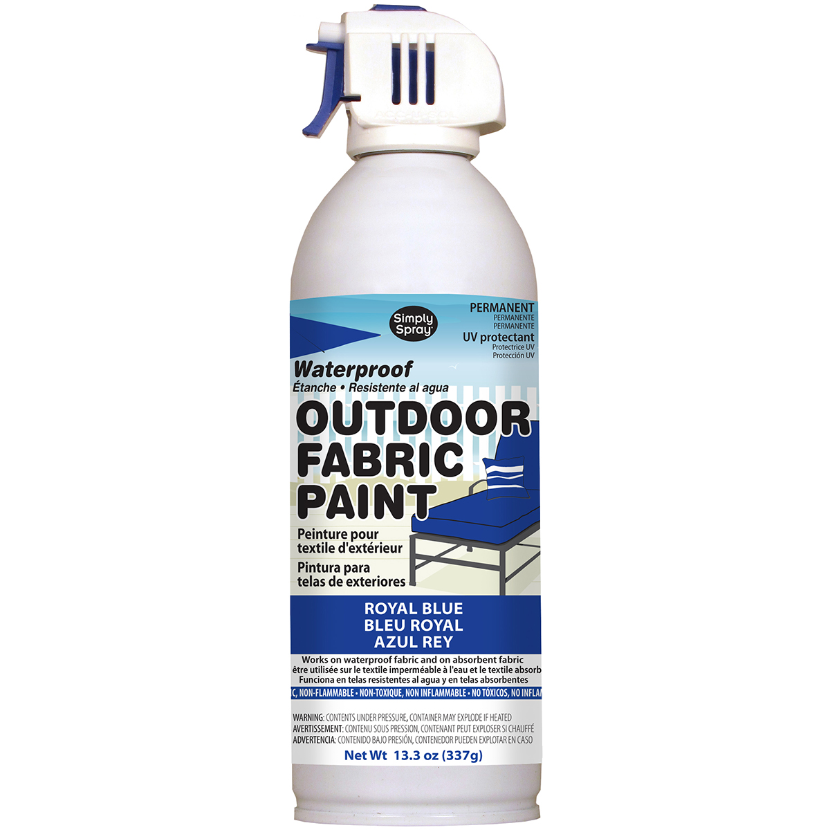 Outdoor Spray Fabric Paint 13.3oz-Royal Blue
