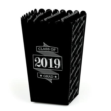 Graduation Cheers - 2019 Graduation Party Favor Popcorn Treat Boxes - Set of 12 - Popcorn Party Ideas