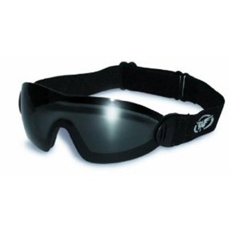 Smoke Goggles - Global Vision Eyewear Flare Anti-Fog Goggles with Storage Pouch, Smoke Tint Lens