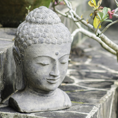 Exceptionnel My Spirit Garden Volcanic Ash Sovereign Buddha Head Statue
