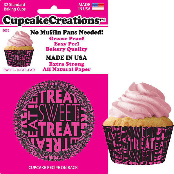 90522, Cupcake Creations, No Muffin Pan Required Baking Cups, Sweet Treat by