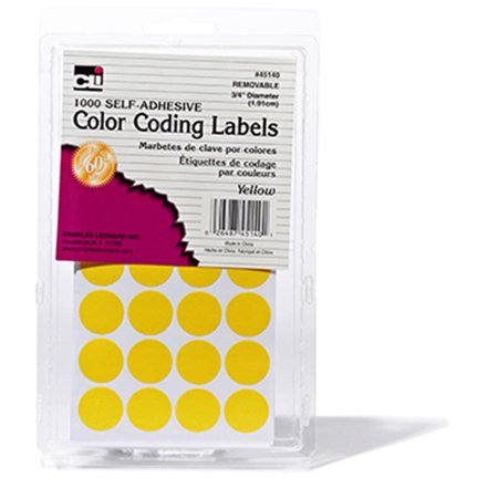 Charles Leonard CHL45140 Color Coding Labels Yellow Charles Leonard Tape Dispenser