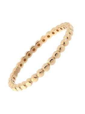 Beauniq 14k Yellow, White or Rose Gold Thin Dotted Stacking Ring