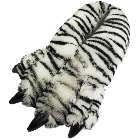 4c0de14f68d9f Norty Grizzly Bear Stuffed Animal Claw Slippers - Plush Paw Slippers -  Furry Fuzzy Soft Plush Animal Slippers - Toddlers Kids Mens and Womens  Adults - ...