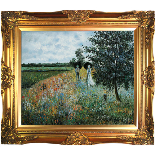 Tori Home Walking Near Argenteuil by Claude Monet Framed Original Painting