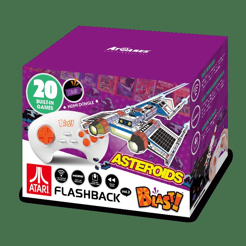 Atari Flashback Blast! Vol. 2, Asteroids, Retro Gaming, Purple, 818858029544