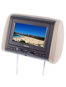 "Audiovox AVXMTGHR1D 7"" universal headrest video monitor with built-in DVD player by Audiovox"