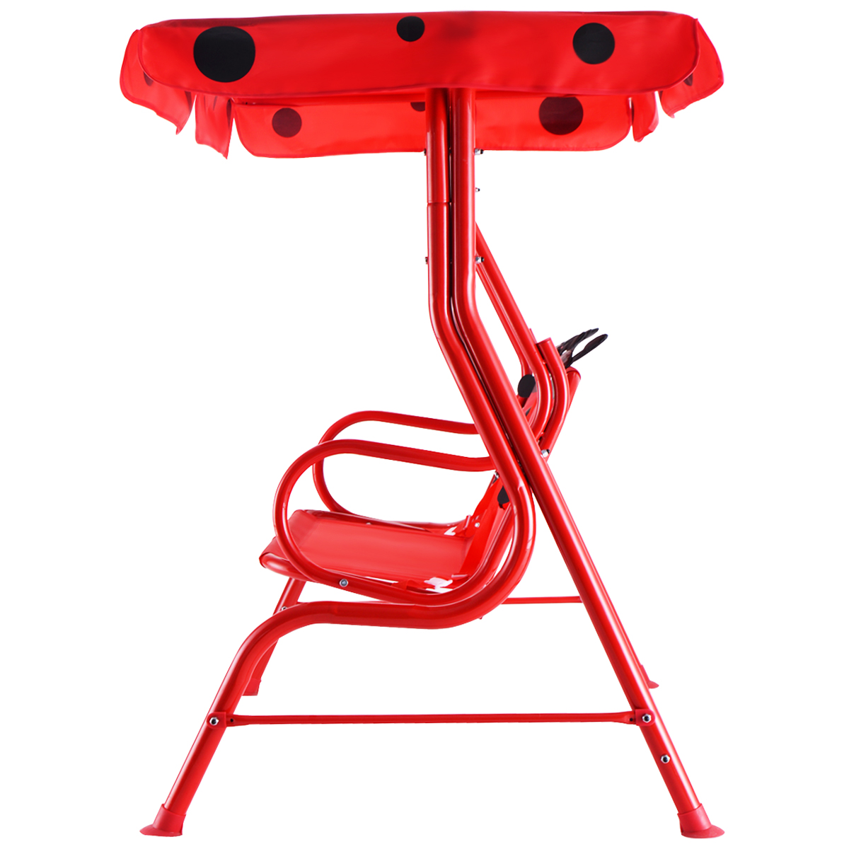 Kids Patio Swing Chair Children Porch Bench Canopy 2 Person Yard Furniture red - image 7 of 10