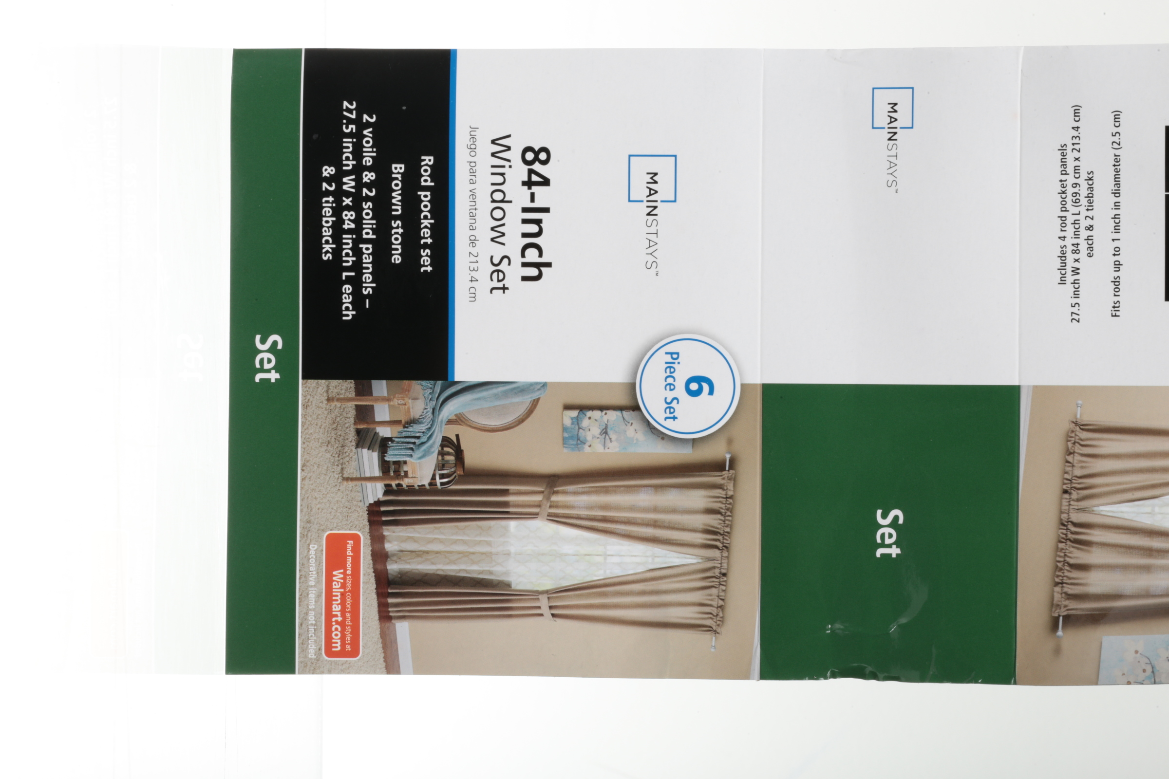 Mainstays Luna Curtain Panel, 4 Piece Set - Walmart com
