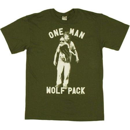 Hangover Alan One Man Wolf Pack T Shirt - Alan Costume Hangover