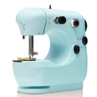 Mini Electric Sewing Machine Portable Household Sewing Machine Beginner Tailors Free-Arm Crafting Mending Machine
