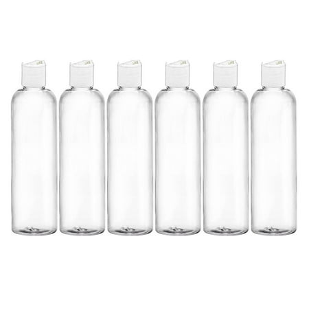 MoYo Natural Labs 4 oz Travel Bottles, Empty Travel Containers with Disc Caps, BPA Free PET Plastic Squeezable Toiletry/Cosmetic Bottle (Neck 20-410) (Pack of 6, (Plastic Cosmetic Bottles)
