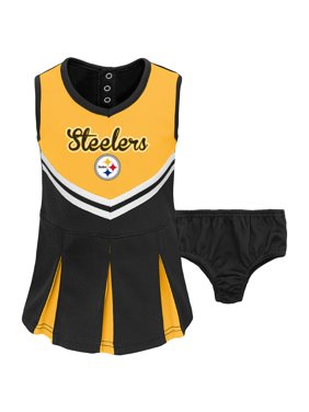 466c47cdc Product Image Toddler Gold Black Pittsburgh Steelers Cheerleader Dress    Bloomers Set. Outerstuff