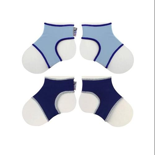 Sock Ons Classic (6-12 Months), Baby Blue & Navy, 2 Pack