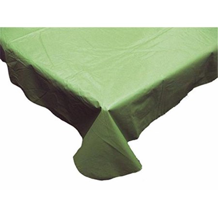 J & M Home Fashions Vinyl Solid Olive Tablecloth