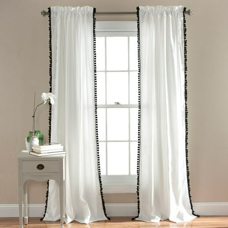 Rayon Curtain - Pom Pom Window Curtains Set