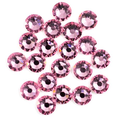 Swarovski 5mm Lt Rose Hotfix 20PC 5mm Swarovski Flower Bead